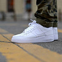 Модные мужские кроссовки Nike air force белого цвета, супер качество!