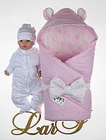 """Демисезонный набор для девочки """"Микки"""", белый/розовый, фото 1"""