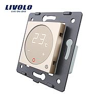 Механизм терморегулятор сенсорный Livolo для водяных систем отопления золото (VL-C7-01TM-13)