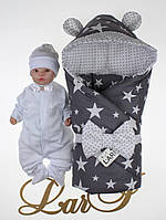 Демисезонный набор для мальчика Микки 2, белый/серый, звезды, фото 1