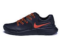 Мужские кожаные кроссовки Nike Air Max Orange (реплика), фото 1