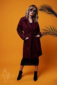 Женское пальто с отложным воротником в расцветках, р-р 48-50. ВЛ-7-1-0319