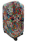Чехол для чемодана  Coverbag дайвинг L павлин разноцветный, фото 2