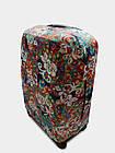Чехол для чемодана  Coverbag дайвинг L павлин разноцветный, фото 3