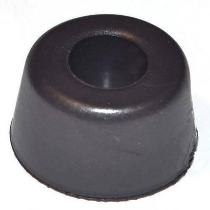 Ножка резиновая черная 12 мм, фото 2
