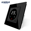 Терморегулятор сенсорний Livolo для водяних систем опалення підлоги колір чорний (VL-C701TM-12)