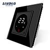Терморегулятор сенсорный Livolo для водяных систем отопления пола цвет черный (VL-C701TM-12)