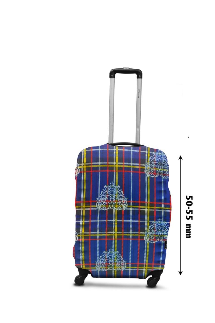 Чехол для чемодана  Coverbag  дайвинг  S клетка разноцветный