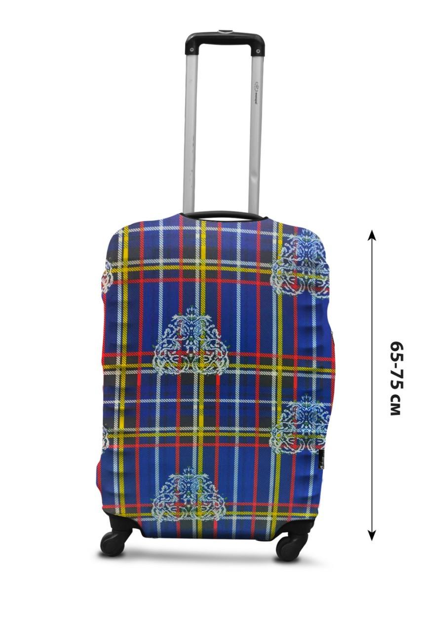 Чехол для чемодана  Coverbag дайвинг L клетка разноцветный
