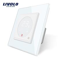 Терморегулятор Livolo для электрического теплого пола цвет белый (VL-C701TM-11), фото 1