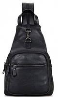 Городской рюкзак Tiding Bag 4005A, кожаный, черный, 4л