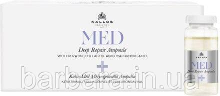 Ампули для глибокого відновлення волосся Kallos Cosmetics MED Deep Repair Ampoule