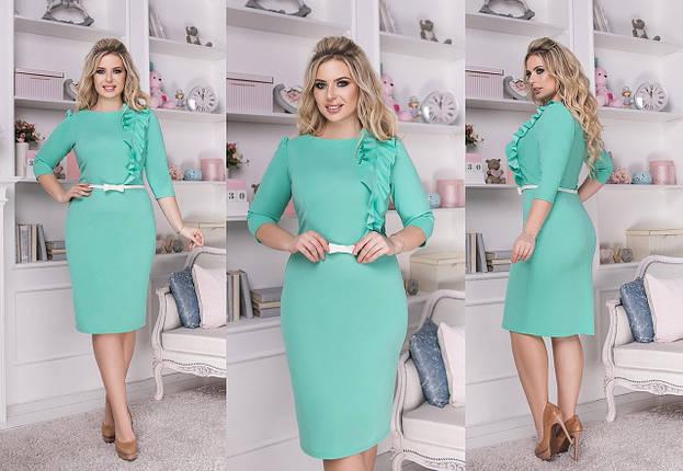 """Классическое платье-футляр """"Hannah"""" с воланом (большие размеры), фото 2"""