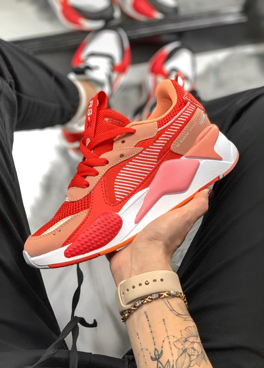 Женские Кроссовки Puma RS-X Red/Pink (реплика)