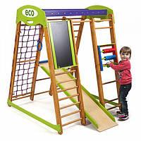 Акция! Деревянный детский Спортивный комплекс для малышей для дома «Карапуз» SportBaby