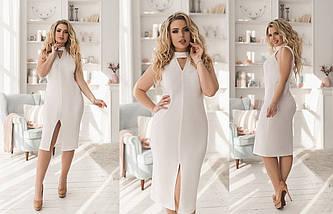 """Облегающее трикотажное миди-платье """"Ellen"""" с имитацией чокера (большие размеры), фото 2"""