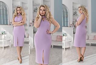 """Облегающее трикотажное миди-платье """"Ellen"""" с имитацией чокера (большие размеры), фото 3"""