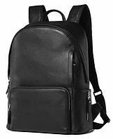 Городской рюкзак Tiding Bag B3-122A, кожаный, черный, 14л
