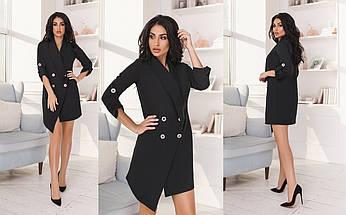 """Короткое асимметричное платье-пиджак """"Saxa"""" с четвертным рукавом (5 цветов), фото 3"""