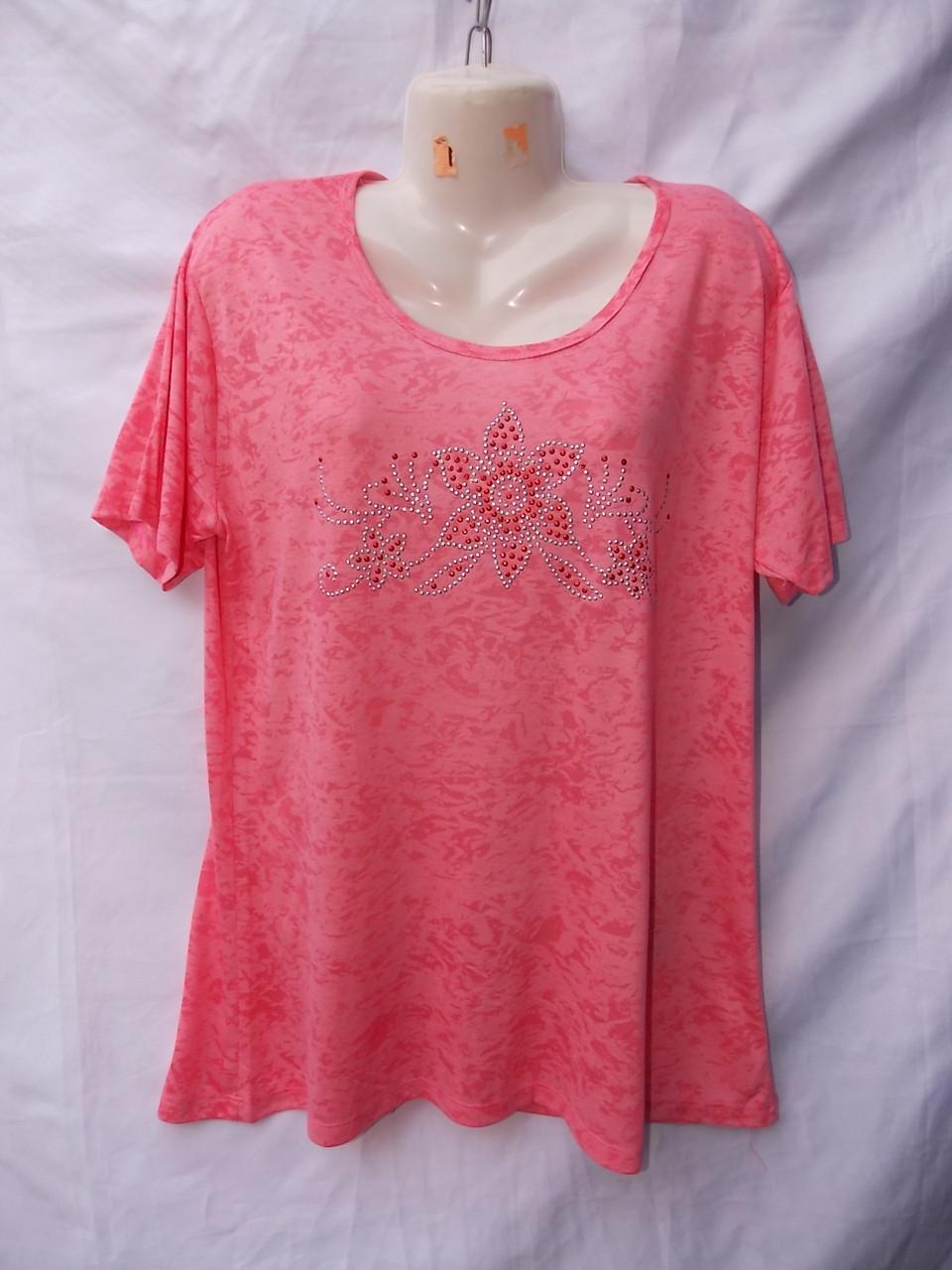 Женская котоновая футболка норма (в уп. 5 расцветок) пр-ва Вьетнам оптом в Одессе.