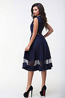 Новинка! Платье - сетка! Цвет: т.синий