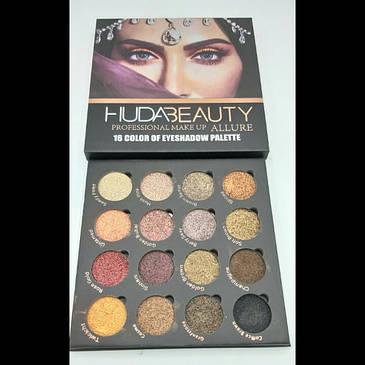 Профессиональный набор теней HudaBeauty ALLURE professional make up 16 цветов, фото 2