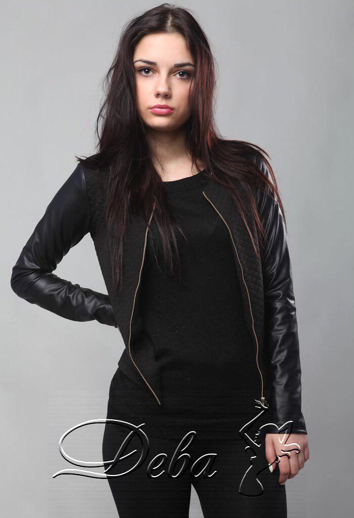 Стильная женская куртка-кофта