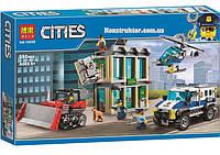 """Конструктор Bela 10659 """"Ограбление на бульдозере"""" Сити, 591 деталей. Аналог LEGO City 60140, фото 1"""