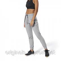 Спортивные серые брюки Reebok женские Training Supply Woven DU4053  , фото 2