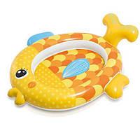 Бассейн надувной Золотая рыбка для детей от 1 года, размером 140х124х34см, 34л Детский Интекс