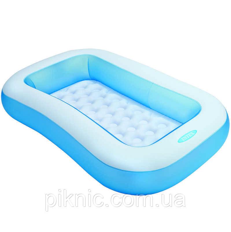 Бассейн надувной для детей от 2 лет размером 166х100х28см, объёмом 90л, весом 1,8кг Детский Интекс