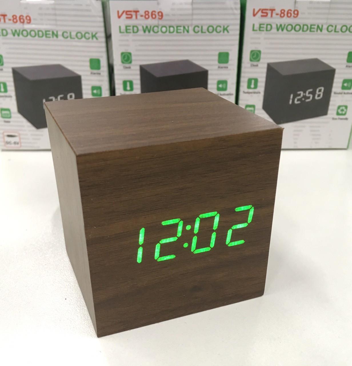 Настольные часы от сети+батарейка ART-869 (120 шт)
