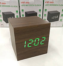 Настільні годинники від мережі+батарейка ART-869 (120 шт)