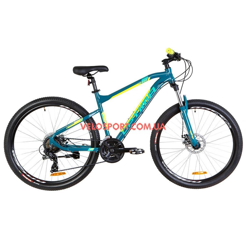 Горный велосипед Optimabikes F-1 27.5 дюймов бирюзово-желтый