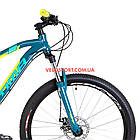 Горный велосипед Optimabikes F-1 27.5 дюймов бирюзово-желтый, фото 2