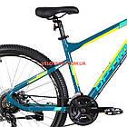 Горный велосипед Optimabikes F-1 27.5 дюймов бирюзово-желтый, фото 4