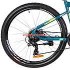 Горный велосипед Optimabikes F-1 27.5 дюймов бирюзово-желтый, фото 5