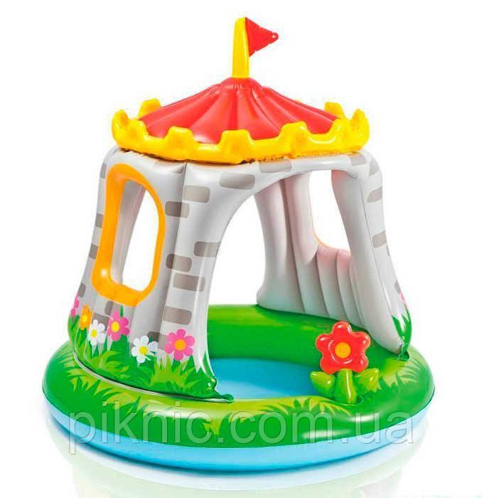 Бассейн надувной Королевский дворец для детей 1-3 лет, размером 122х122 см., 68л. Детский Интекс