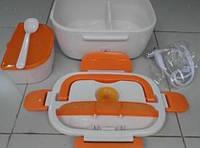 Ланч-бокс, термос харчовий з підігрівом від мережі 220V, різні кольори, фото 1