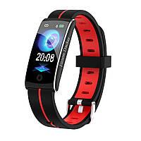 F10C Фитнес браслет тонометр давление крови для iPhone Android трекер пульсометр калории сон бег черно-красный