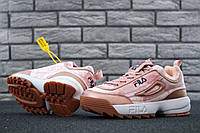 Женские кроссовки Fila Disruptor II 2 Velvet Pink/Gold, фото 1