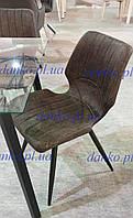 Стул М-22 коричневый антик Vetro Mebel, нубук