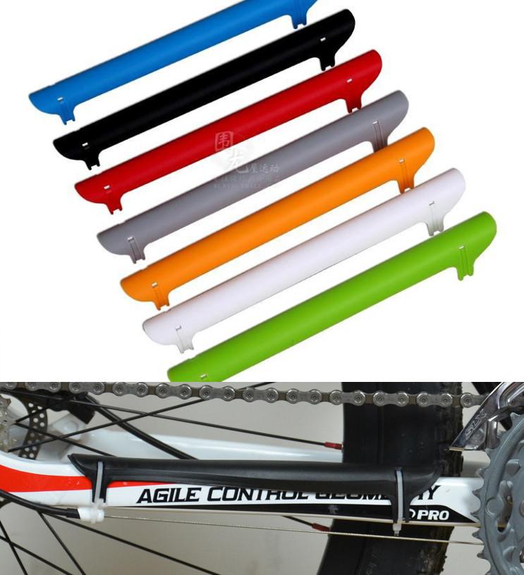 Универсальная вело / велосипедная пластмассовая накладка / защита пера от ударов цепи и повреждения ЛКП