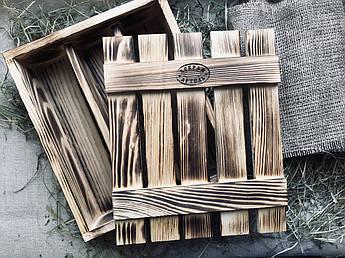Подарочная деревянная коробка ручной работы
