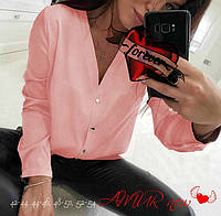 Рубашка женская молодежная креп-шифон СЕР2 519, фото 1