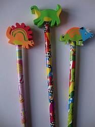 Олівець з гумкою Динозаврик (3 види)
