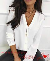 Рубашка женская молодежная большие размеры креп-шифон СЕР2 1519