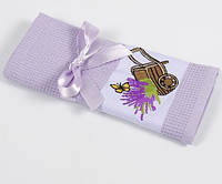 Полотенце кухонное Lotus Life - Lavander лиловый 40*60