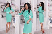 Женское платье украшенное воланом с поясом. Размеры:42,44,46. +Цвета, фото 1