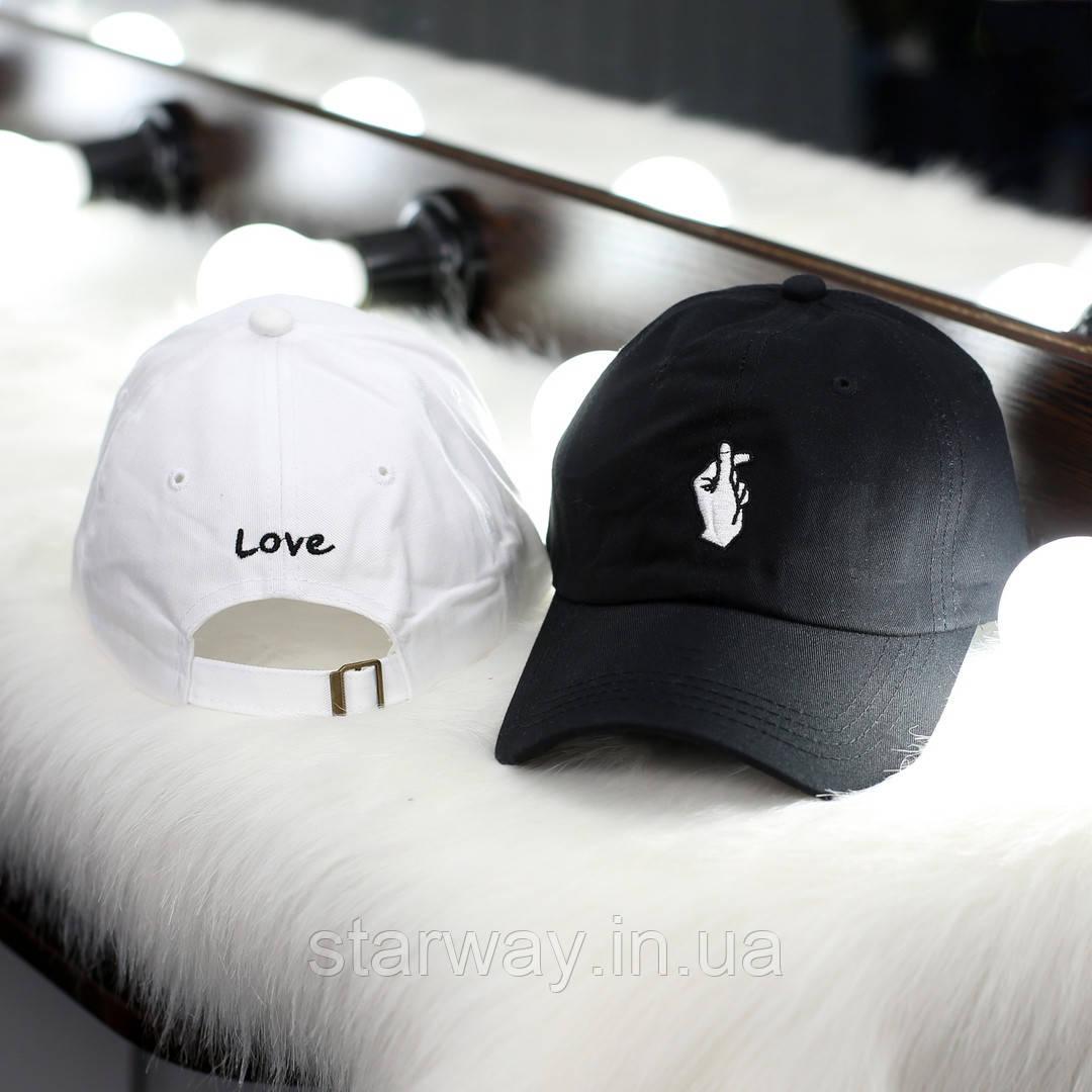 Кепка Love логотип вышивка   Стильная